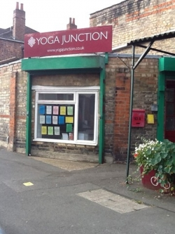 Yoga Junction Centre-Main front window with the studio logo above
